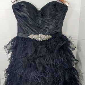 Dresses & Skirts - Formal Black Feathered Cocktail Dress